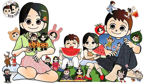 豊川市中央図書館公式キャラクター・イメージ画像